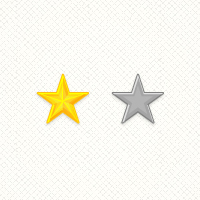 Preview for Create a Set of Detailed, Vector Rating Stars