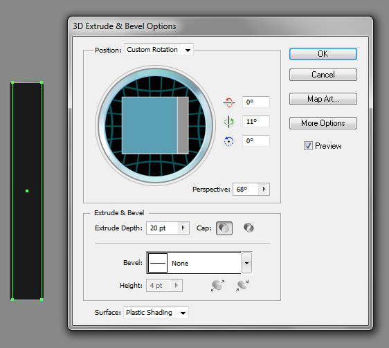 how to draw exact rectangle size after effects