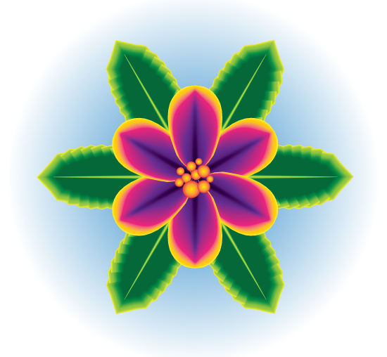 create a one stroke tropical flower using adobe illustrator cs, Beautiful flower
