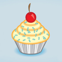 Preview for Create a Tasty Cupcake Icon in Adobe Illustrator
