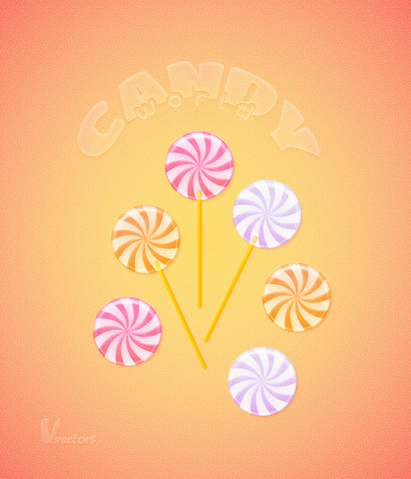 Link toUse warp effects to create a pastel colored candies illustration