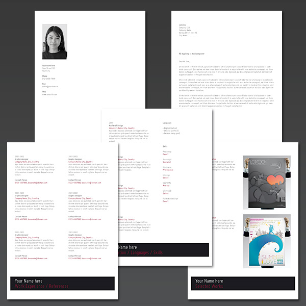 Link toCreating an elegant looking resume with indesign