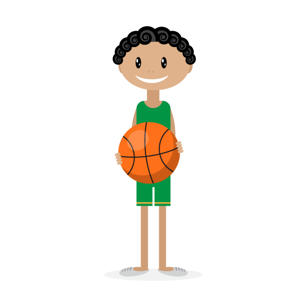Simple Character Design Illustrator : How to illustrate a cute basketball player with simple shapes