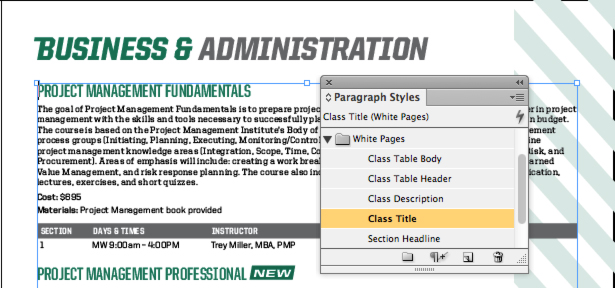 how to change the text color of an indesign document