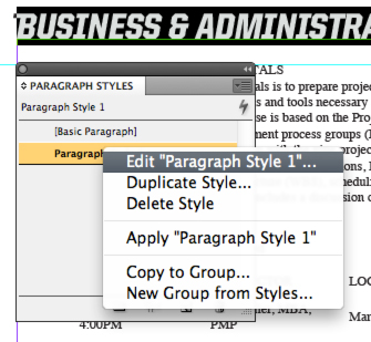 how to correct formatting in an adobe document