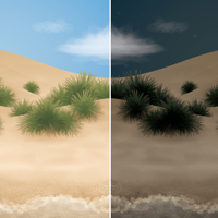 Preview for Go from Day to Night with a Beach Scene in Adobe Illustrator