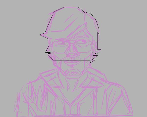 Drawing With Lines Only : How to create a self portrait in geometric style