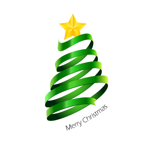 Christmas Tree Illustration.How To Create A Stylized Christmas Tree With The Pen Tool