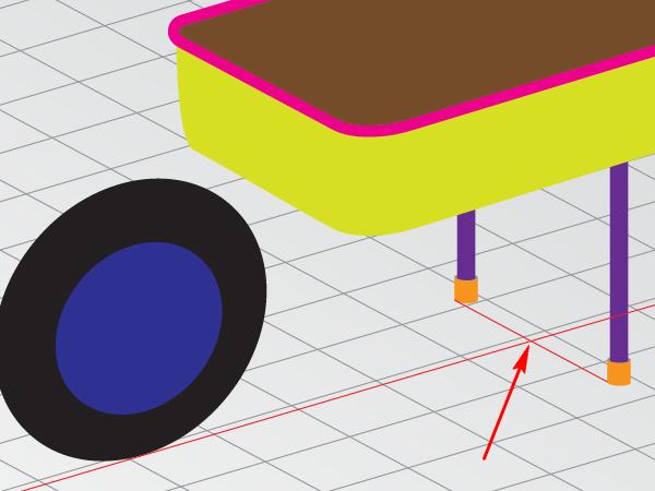how to draw a wheelbarrow step by step