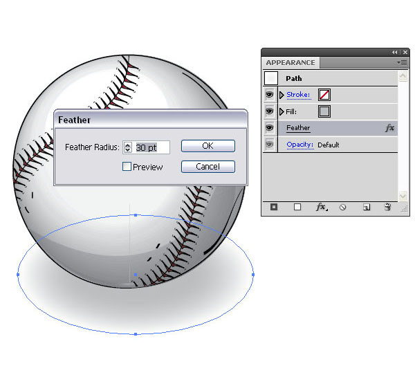 How to Create a Vector Baseball Bat and Ball