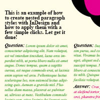 Preview for Creating a Question and Answer Format with InDesign Nested Styles