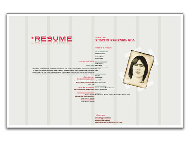 Using indesign to create a designer resume