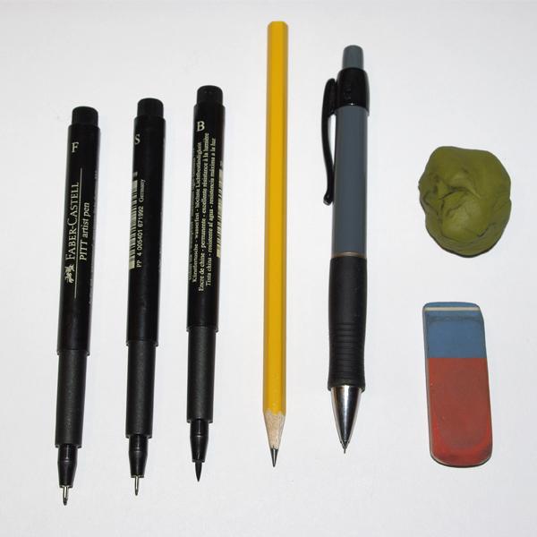 Step 1 begin your pencil sketch