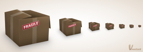 Link toHow to create a simple cardboard box icon