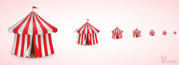 Link toHow to create a fun circus tent icon