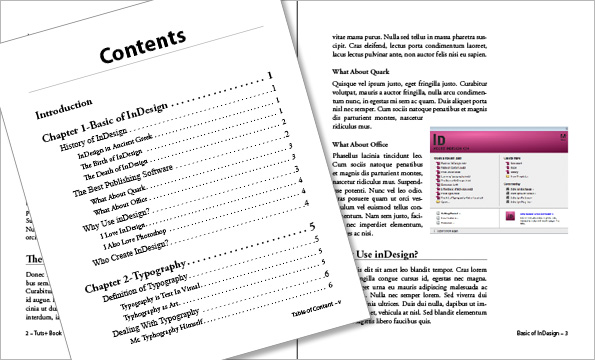 Link toWriting effectively in indesign using book