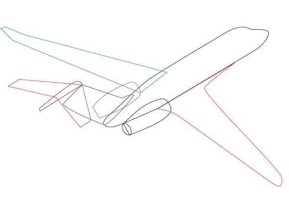 airplane drawing template - Gecce.tackletarts.co