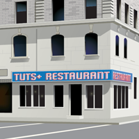 Preview for Create a Classic American Diner with Perspective Drawing Tools