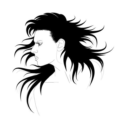 How To Illustrate Dynamic Hair Using Adobe Illustrator S Paintbrush Tool