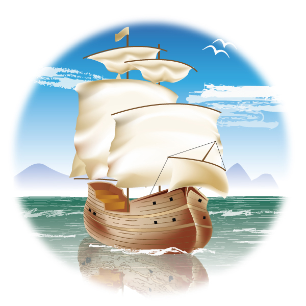 Create a classic, sailing ship in illustrator cs5