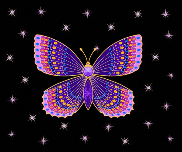 How to create a jeweled butterfly in inkscape
