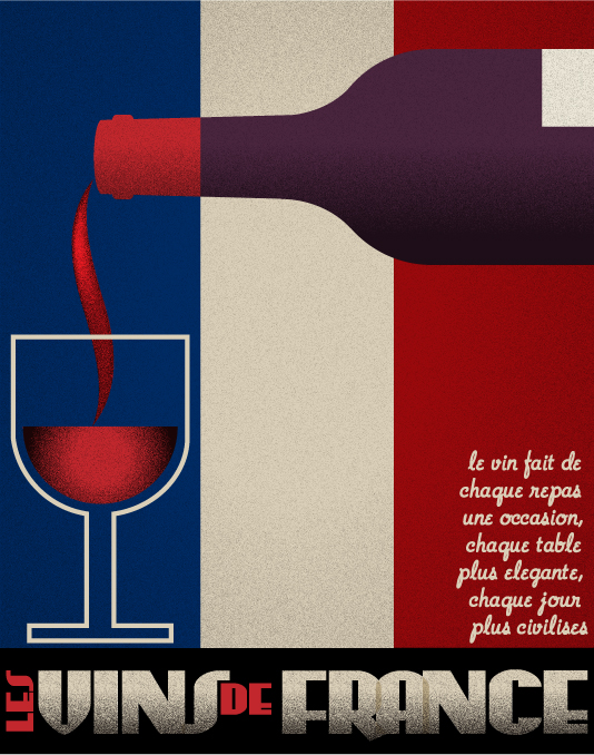 Art Deco Wine Poster Illustrator Tutorial
