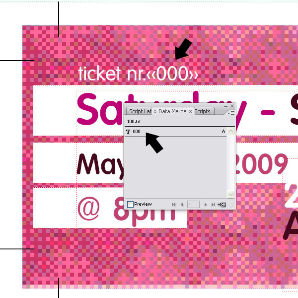 Create Numbered Tickets the Easy Way in InDesign