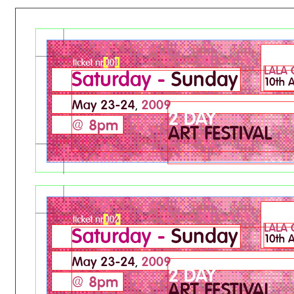 Create Numbered Tickets The Easy Way In InDesign - Indesign raffle ticket template