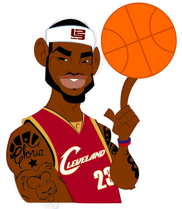 step 15 - Lebron James Coloring Pages