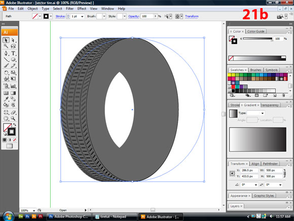 how to cut the stroke of a circle illusstrator