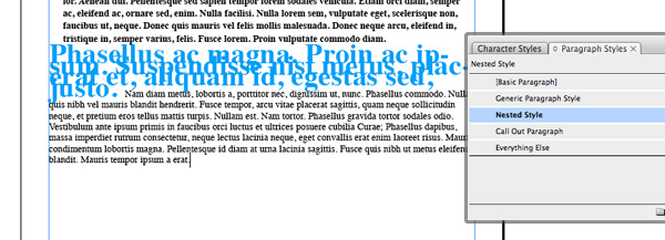how to create auto characters paragraph style indesign