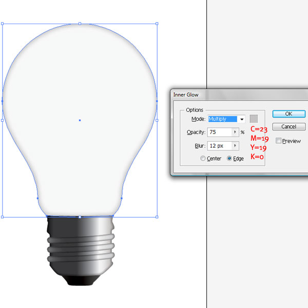 how to draw a realistic light bulb