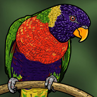 Preview for How to Make a Parrot Illustration with Custom Brushes