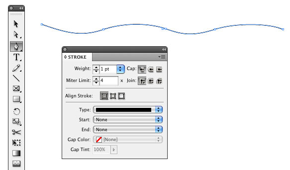 Curved Line Indesign : How to create a flag graphic with type in indesign