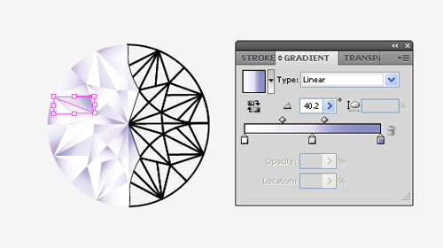 How to make a vector diamond ring in illustrator step 18 ccuart Images