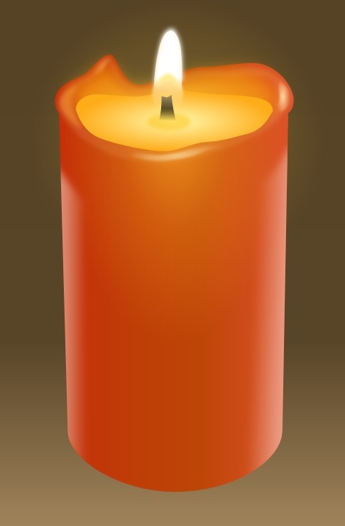 create a realistic candle in inkscape