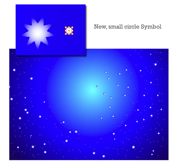 how to create a star in space