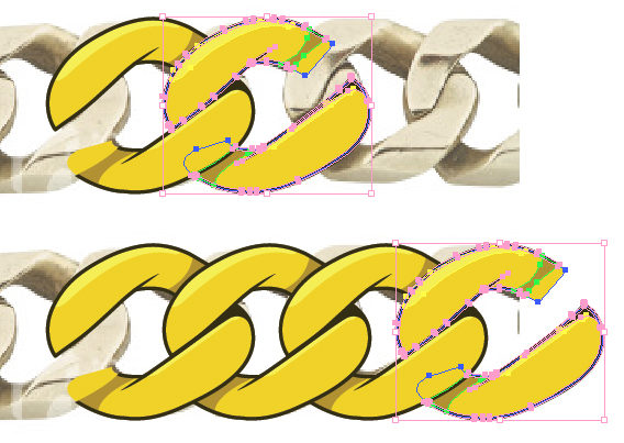 Create a Gold Chain Pattern Brush with Illustrator