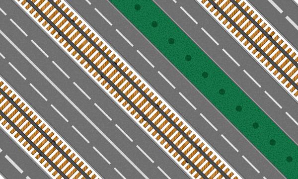 How to Create Roads and Rail Tracks on a Path