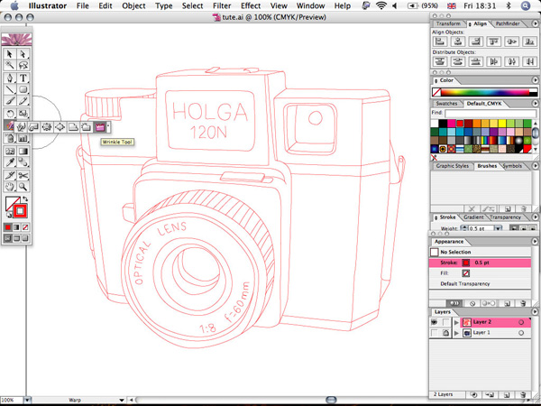 How To Smooth Drawing Lines In Illustrator : Create a sketchy hand drawn camera illustration in illustrator