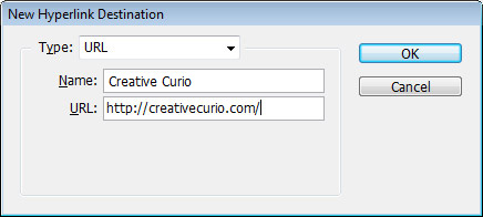 Step 2 - Destination Type: URL