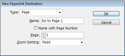 Step 2 - Destination Type: Page