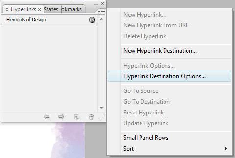 Step 3 - Editing a Hyperlink Destination