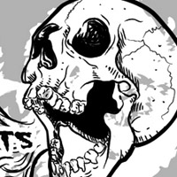 Preview for Illustrate a Grunge Style Talking Skull in Vector