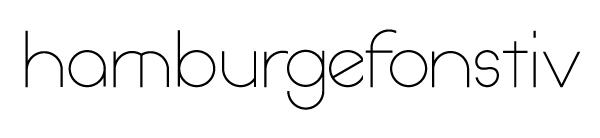hamburgefonstiv font