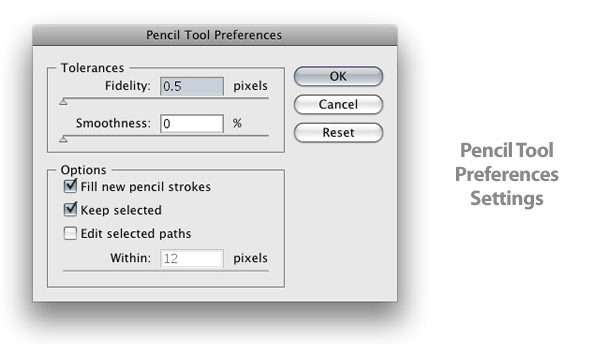 Pencil Tool Options