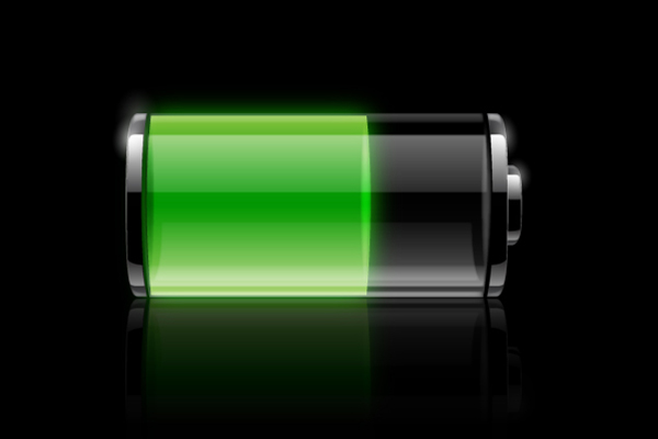 How to create a transparent battery icon