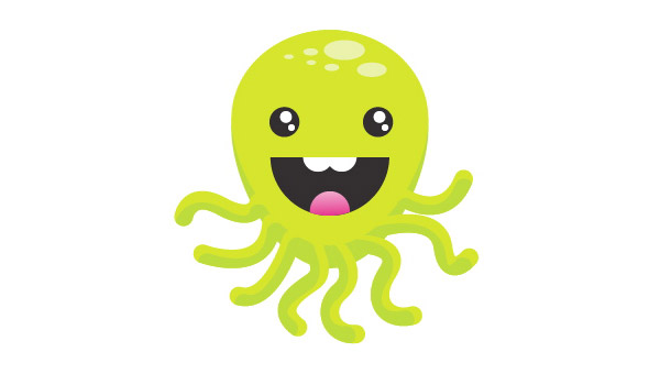 Create A Super Happy Octopus Character
