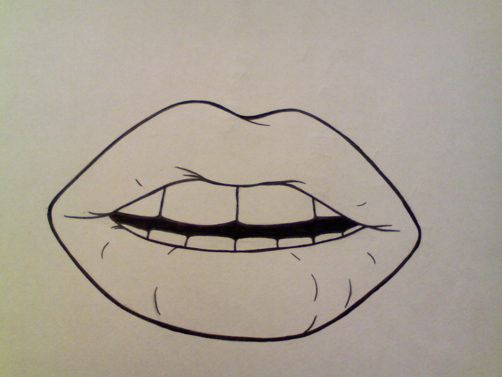 It's just a graphic of Clever Lips Outline Drawing
