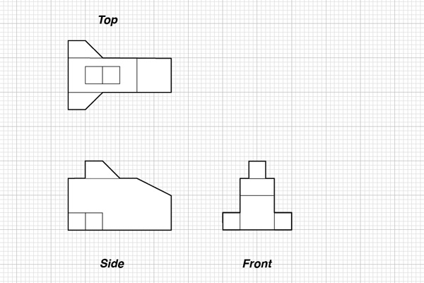 10573306 also 52104 chair o P further Orthographic And Isometric Part 2 Autocad 2011 furthermore Orthographic Projection besides Drawing A First Angle Orthographic Projection. on third angle projection examples